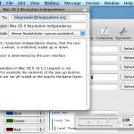 Screenshot of OS X at 144 DPI