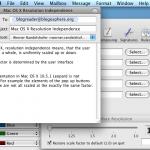 Screenshot of OS X at 72 DPI