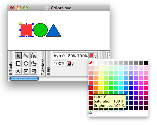 JHotDraw new color chooser